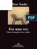 SACKS, O. - Veo Una Voz. Viaje Al Mundo de Los Sordos