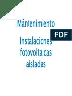 5_Mantenimiento instalaciones fotovoltaicas aisladas