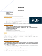 DEMENCIA - Apunte Clase