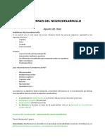 Trastorno Neurodesarollo - APUNTE de CLASE