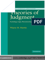 Wayne Martin - Theories of Judgment_ Psychology, Logic, Phenomenology (Modern European Philosophy) (2006).pdf