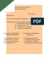 Corrientes Pedagògicas