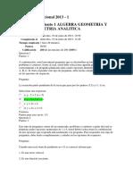 Evaluación Nacional 2013 Algebra Geometria Trigonometria