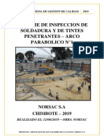 Informe de Tintes Penetrantes - Arcos Parabolicos 5 Norsac