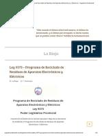 Ley 9373 - Programa de Reciclado de Residuos de Aparatos Electrónicos y Eléctricos - Argentina Ambiental