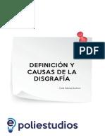 Definición y Causas de La Disgrafía