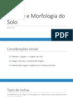 Morfologia do solo