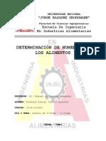 DETERMINACION DE HUMEDAD DE LOS ALIMENTOS