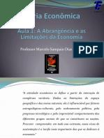 Aula 1- A Abrangências e as Limtações Da Economia