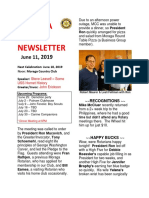 Moraga Rotary Newsletter June 11 2019