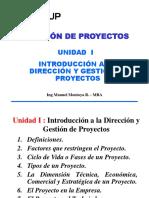 Introduccion a La Direccion y Gestion de Proyectos