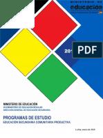 Programas de Estudio 2019 Secundaria