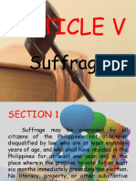 Article v- Suffrage
