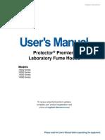 Labconco-9410500 Rev g Protector Premier Laboratory Fume Hoods User Manual