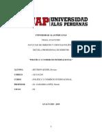 Trabajo Academico de Politica y Comercio Internacional