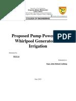 Pump powered by turbine
