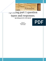 Part 1 Speaking Question Types-flat