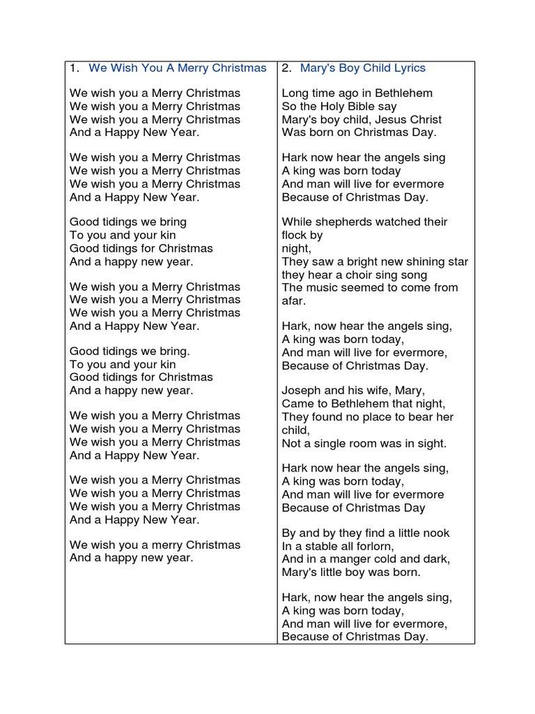 Long time ago lyrics christmas