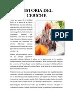 Historia Del Cebiche