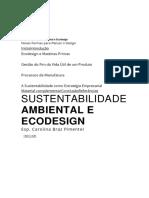 Sustentabilidade Ambiental e Ecodesign