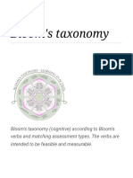 Bloom's Taxonomy - Wikipedia