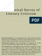 A Historical Survey of Literary Criticism