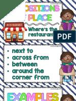 Preposiciones de Lugar en Ingles
