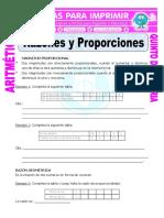 Razones y Proporciones Para Quinto de Primaria