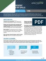 HVACR Tech Bulletin 194 Cleaning Fluorescent Leak Detection Dye Spills Designed Template