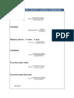 Fórmulas de Disoluciones