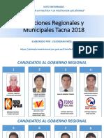Elecciones Regionales y Municipales Tacna 2018