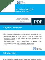 Curso para Aspirantes a Dirigencias Municipales Plan de Trabajo CDE Puebla