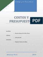Costos y Presupuestos Trabajo Final