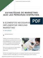 8 Elementos Para Implementar Una Campaña de Inbound Marketing