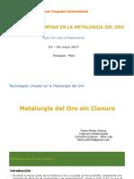 PEDRO FLORES Metalurgia Del Oro Sin Cianuro