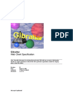 archapi Gibraltar server comparison (Microsoft design document)