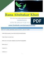 CS201-MidTerm-By Rana Abubakar Khan