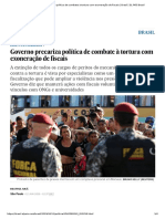 Governo Precariza Política de Combate à Tortura Com Exoneração de Fiscais _ Brasil _ EL PAÍS Brasil