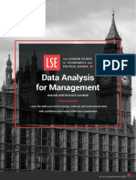 Lse Data Analysis for Management Online Certificate Course Prospectus