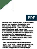 Globalization topic