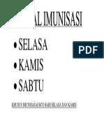 JADWAL IMUNISASI