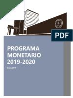 Programa Monetario 2019 2020