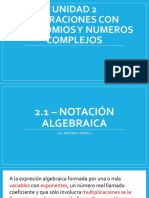 2.1 - Notación Algebraica