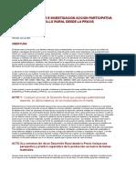 EDUCACION POPULAR E INVESTIGACION ACCION PARTICIPATIVA PARA UN DESARROLLO RURAL DESDE LA PRAXIS.doc