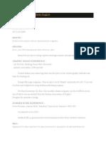 Contoh CV Dalam Bahasa