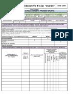 Formato de Informe Quimestral - Desarrollo Humano Integral