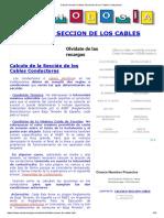 Calculo Seccion Cables Secciones de Los Cables Conductores