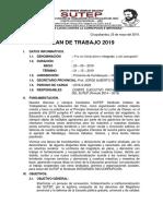 Plan de Trabajo Sutep Condesuyos