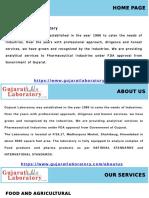 Food testing lab in Gujarat, Pharmaceutical Testing in Gujarat, Water testing Laboratory