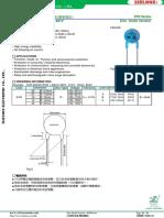 Zinc Oxide Varistor 07D